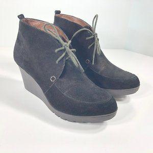 Donald J Pliner Suede Nilos Ankle Wedge Boots